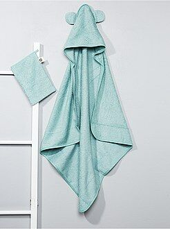 Conjunto capa de banho e luva a condizer - Kiabi