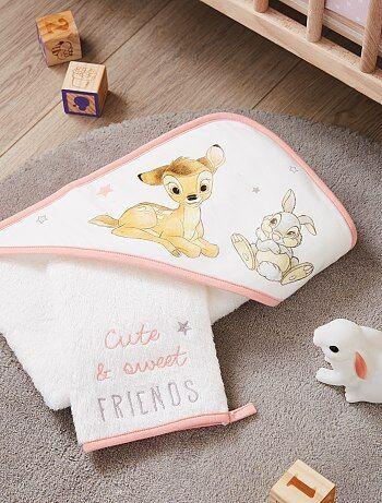 Conjunto capa de banho e luva 'Bambi' 'Disney' - Kiabi