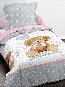 Roupa de cama criança - Conjunto de cama 'Boneco de peluche' - Kiabi