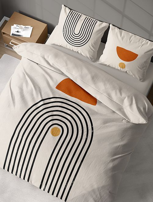 Conjunto de cama de casal                             Ecru