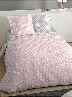 Conjunto de cama de casal estampada 'roseta' - Kiabi