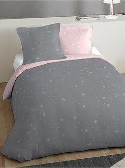 Conjunto de cama de casal estampado 'estrelas' - Kiabi