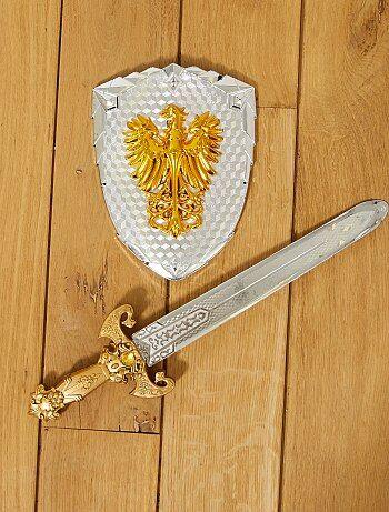 Conjunto de espada e escudo de cavaleiro - Kiabi