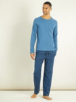 Pijama, roupão - Conjunto de pijama comprido de 2 peças