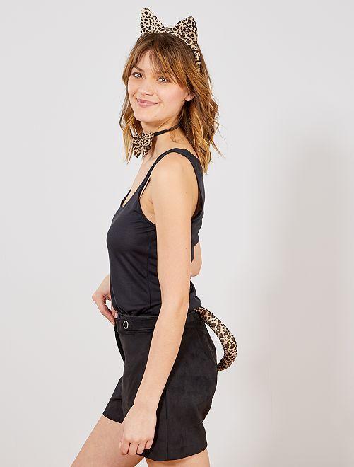 Conjunto leopardo                             marrom