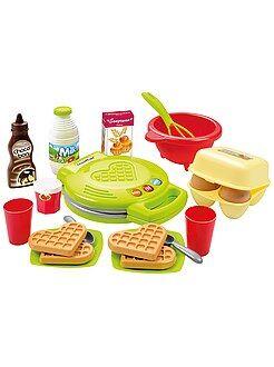 Brinquedos - Conjunto máquina para fazer waffles com acessórios - Kiabi