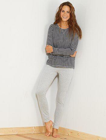 Conjunto pijama comprido - Kiabi