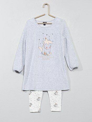 Conjunto pijama 'unicórnio' - Kiabi