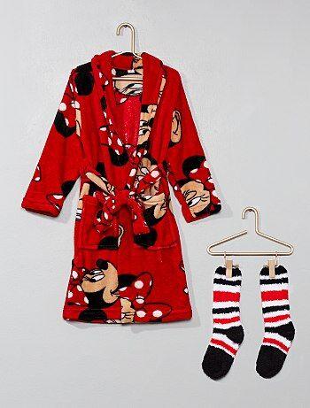 Conjunto roupão e meias 'Minnie' - Kiabi
