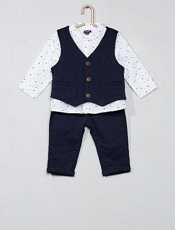 Conjunto t-shirt + casaco + calças - Kiabi
