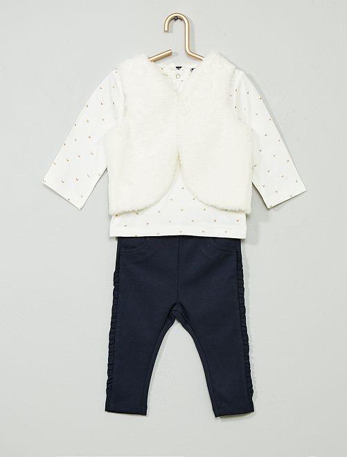 Conjunto t-shirt + casaco + calças                                         CINZA