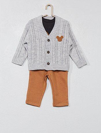 Conjunto t-shirt + casaco + calças 'Mickey' - Kiabi