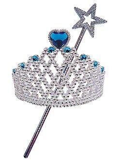 Roupa fantasia criança - Conjunto 'tiara' e 'varinha' princesa ou fada