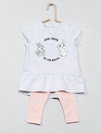 Conjunto vestido + leggings 'Miss Bunny' - Kiabi