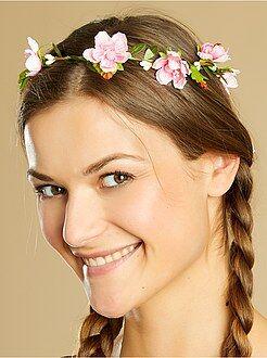 Mulher Coroa de flores