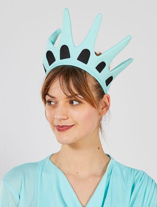 Coroa 'Estátua da Liberdade'                             azul