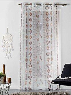 Decoração têxtil - Cortinado com estampado 'caçador de sonhos' - Kiabi