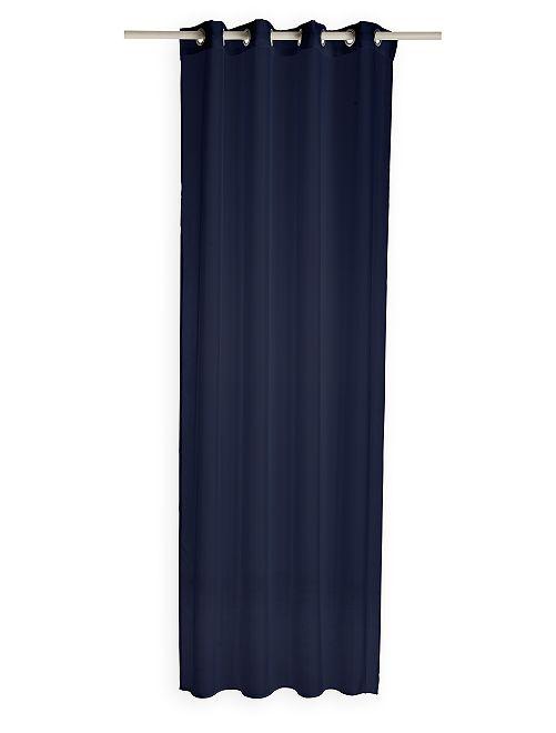 Cortinado transparente com ilhoses                                                                                                     Azul Marinho