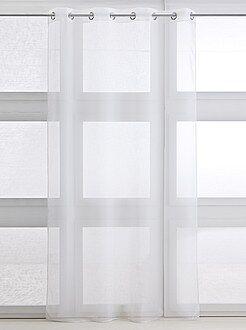 Cortina, cortinado - Cortinado transparente com ilhoses