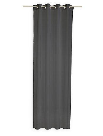Cortinado transparente com ilhoses - Kiabi