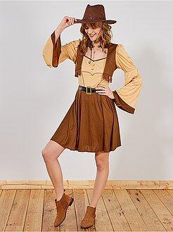 Disfarce cowgirl mulher - Kiabi