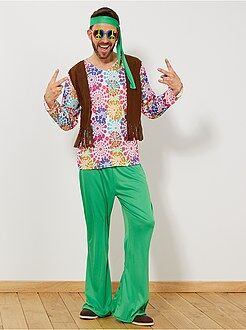 Roupa fantasia homem - Disfarce hippie homem