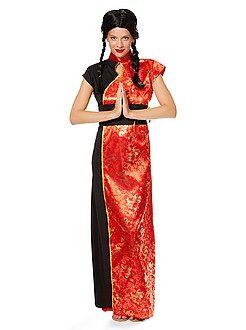 Mulher Disfarce vestido tradicional chinês mulher