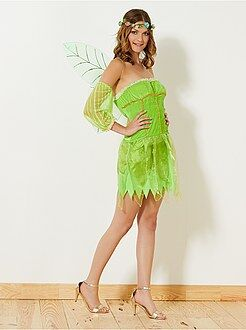 Roupa fantasia mulher - Fantasia de fada verde