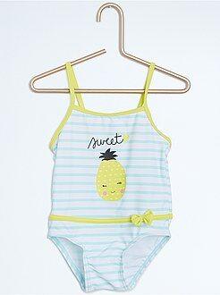 Menina 0-36 meses Fato de banho de uma peça com alças finas