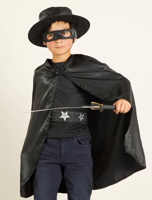 Fato de cavaleiro negro                             Preto
