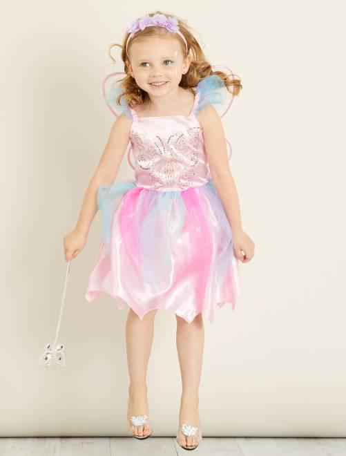 Fato de fada                              Rosa/Azul Criança