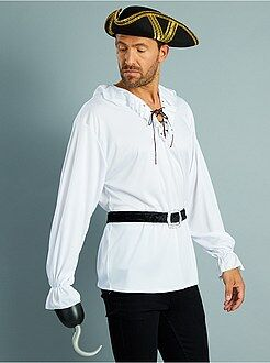 Homem Fato de pirata com camisa + cinto