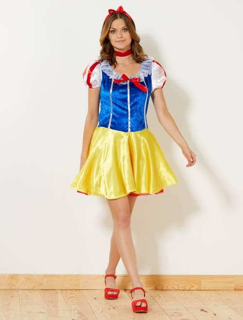Fato de princesa de conto de fadas                             Amarelo Mulher
