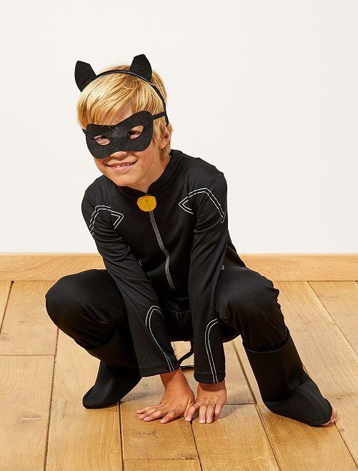Fato 'Gato preto' da 'Miraculous'                             Preto