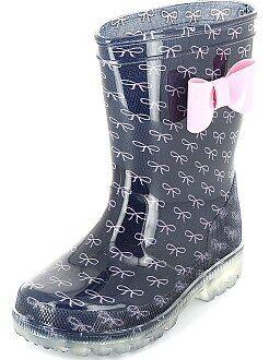 Sapatos menina - Galochas com sola luminosa