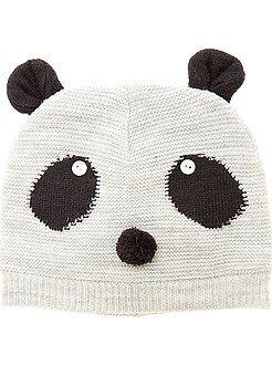 Acessórios - Gorro em tricô 'Panda'