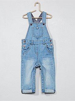 Calças, jeans, leggings - Jardineiras de ganga - Kiabi