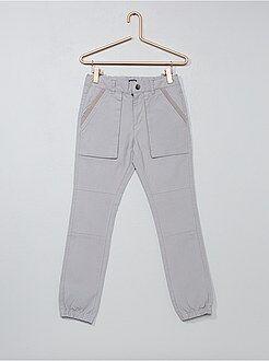 Calças - Joggings em algodão elástico - Kiabi
