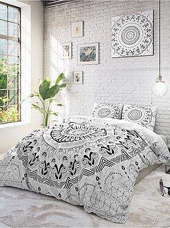 Roupa de cama adulto - Jogo de cama de casal estampado 'Mandalas' - Kiabi