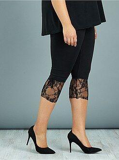 Leggings - Legging curto com renda - Kiabi