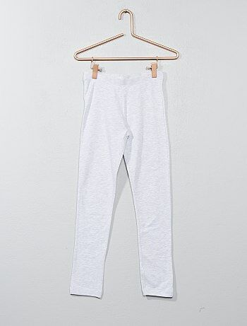 Leggings compridas de algodão elástico - Kiabi