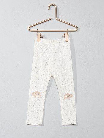 Leggings de algodão com estampado pontilhados - Kiabi