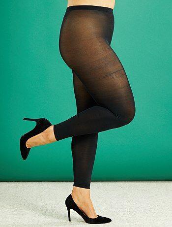 Lingerie tamanhos grandes - Leggings leves 80D tamanho grande - Kiabi