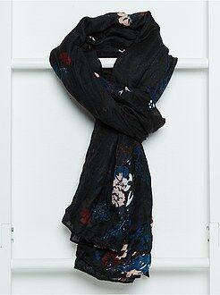 Cachecol, lenço - Lenço em tecido estampado