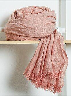 Cachecol, lenço - Lenço fluido com franjas liso