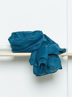 Cachecol, lenço - Lenço retangular em voile suave e iridescente