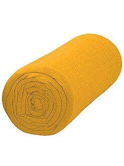 Roupa de cama criança - Lençol-capa liso 90 x 200
