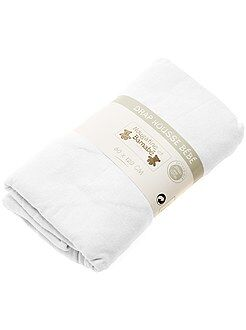 Quarto, banho - Lençol-capa liso para cama de bébé