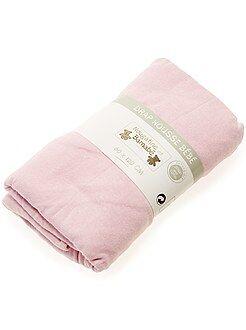 Roupa de cama criança - Lençol-capa liso para cama de bébé