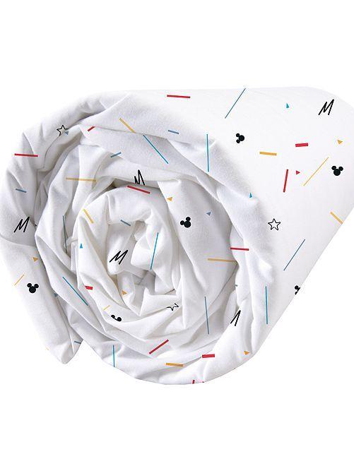 Lençol-capa 'Mickey'                             Branco